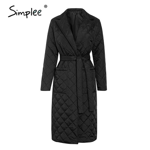 Simplee Fashion Female Winter Windproof Jacket