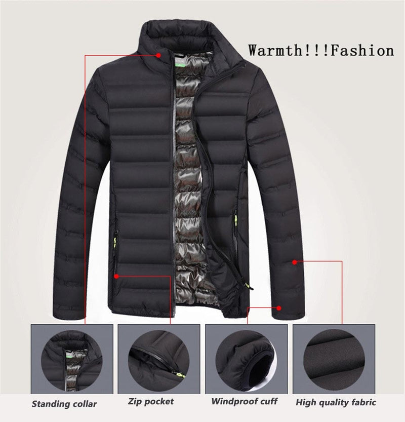 Men`s Slim Fit Windbreaker Jacket - Average1