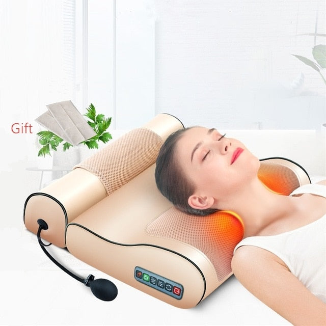 Jinkairui Infrared Heated Neck, Shoulder, Back, and Body Electric Massage Pillow - Average1