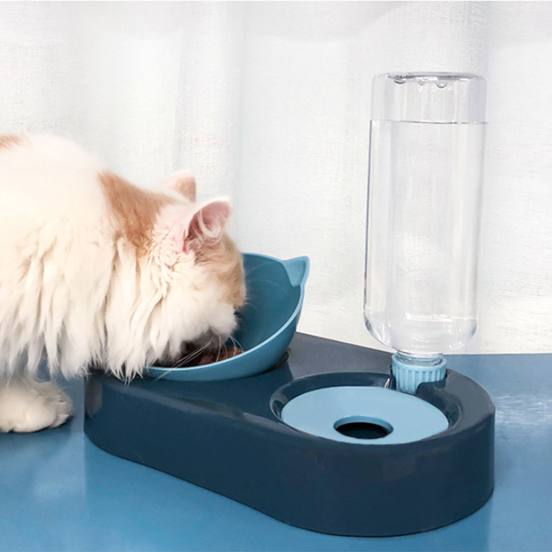 2 -in- 1 Automatic Water Dispenser and Food Bowl