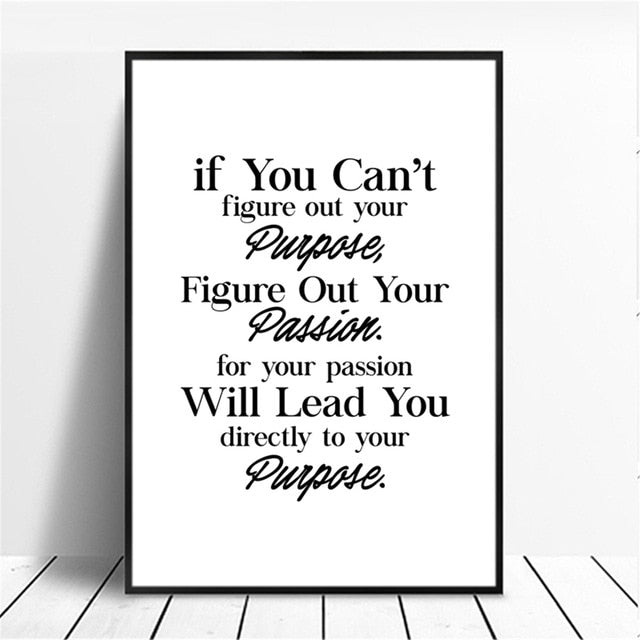 Inspirational Phrases Canvas Printings