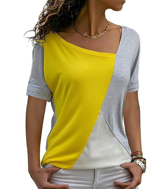 Women's Patchy Half-Sleeve T Shirt