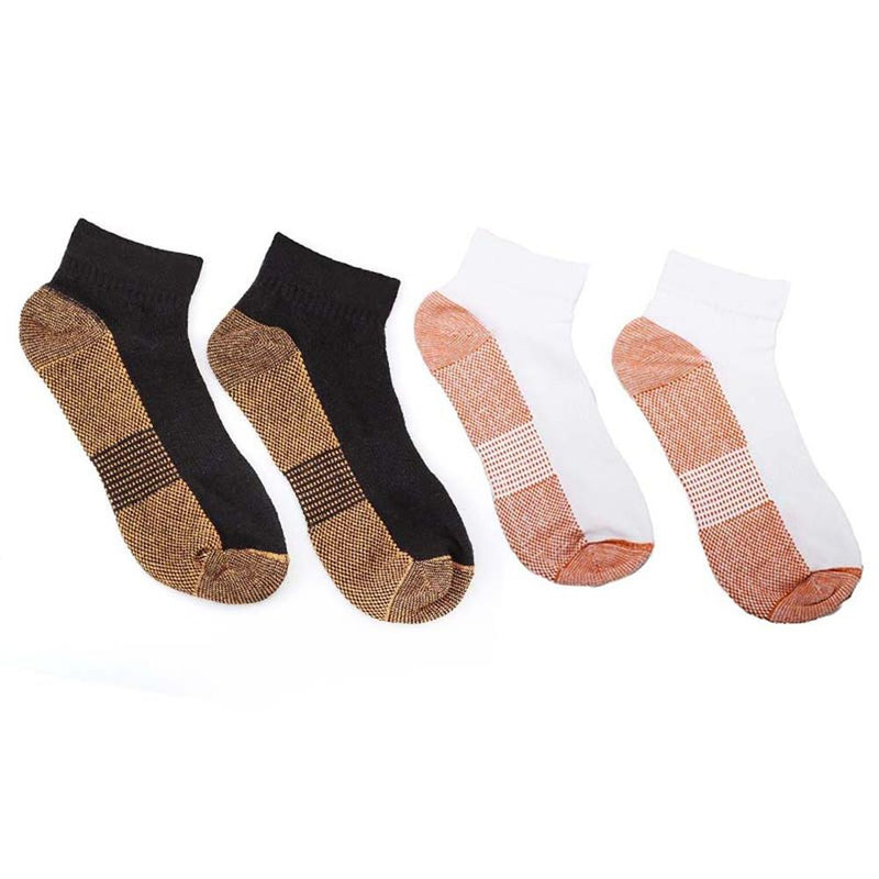 1 pair of Copper Fiber and Cotton Sports Socks