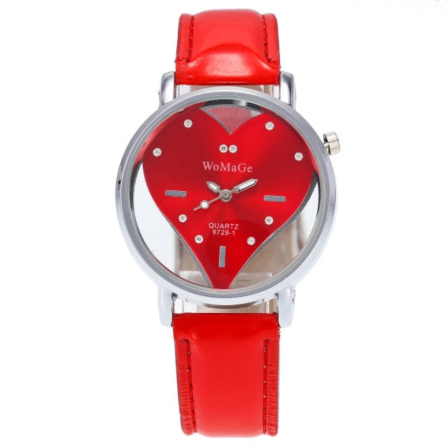 Women's Transparent Rhinestone Wristwatch
