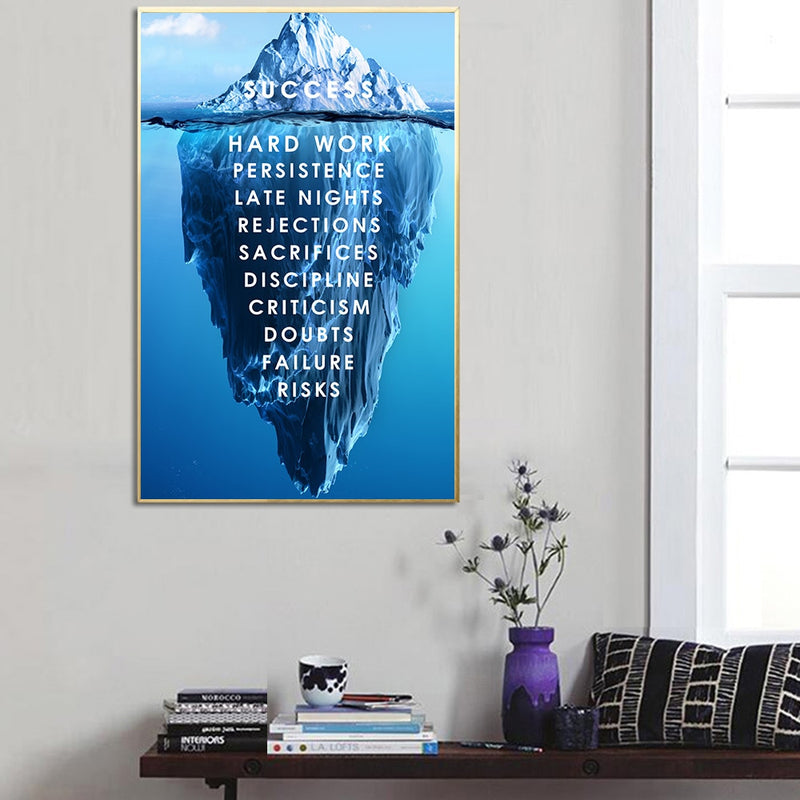 Iceberg of Success Canvas Poster