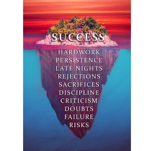 Success Life Quotes Canvas Printings (Not Framed)