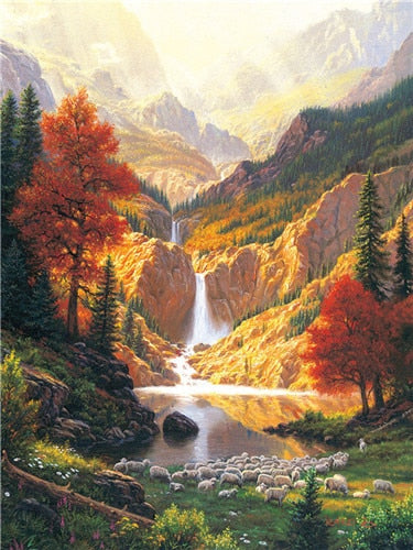 5D Diamond Embroidery Natural Landscapes Kit