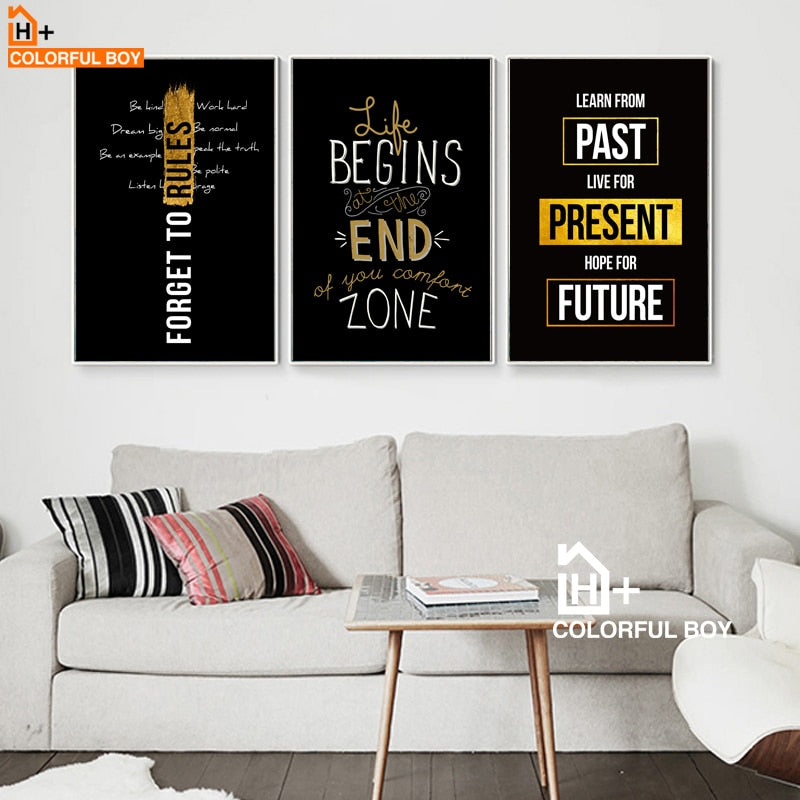 Inspiring Quotes Canvas Paintings (No Frame)