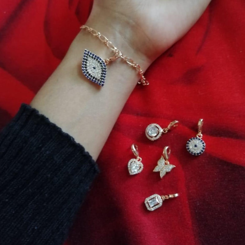 High Quality Rosegold 6 Charm Bracelet Combo