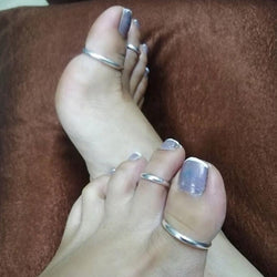 Simple Shinny Silver Toe Rings