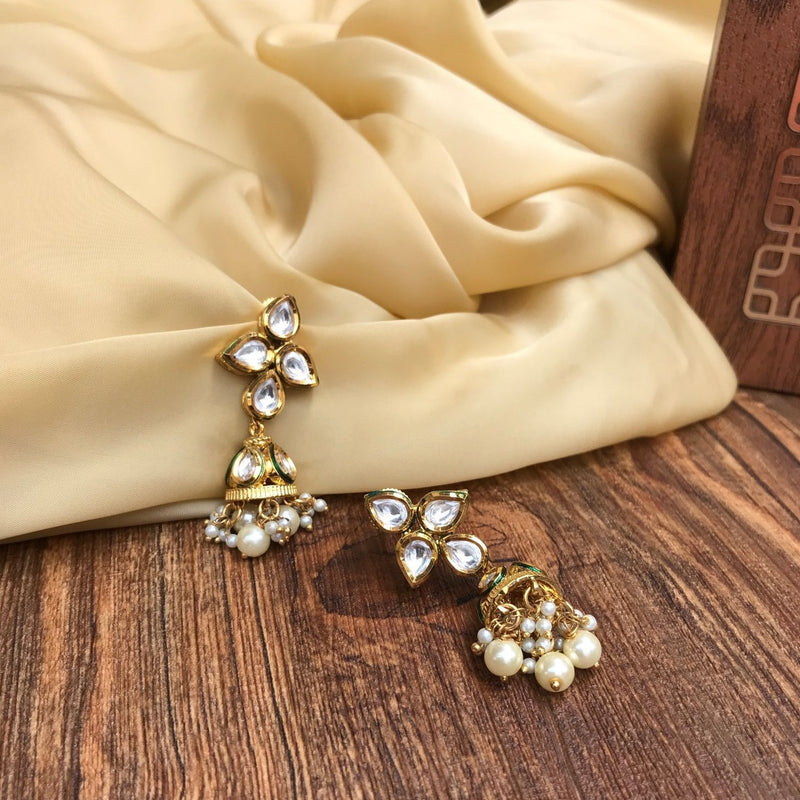Beautiful Pearl Drop One Jumka Earring