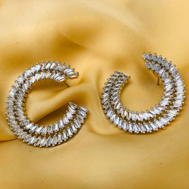 Silver Choki Diamond Earrings
