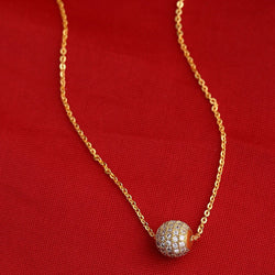 Round Golden Ball Necklace