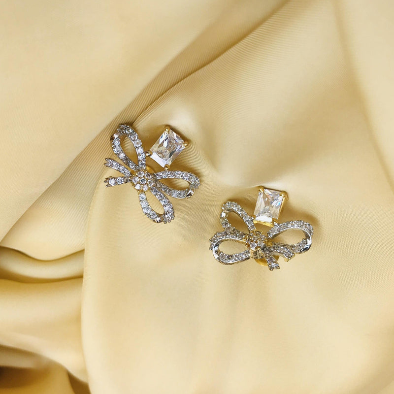 Limited Edition Bow American Diamond Earrings