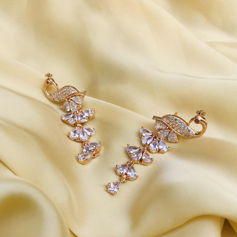 Cute Peacock American Diamond Earrings
