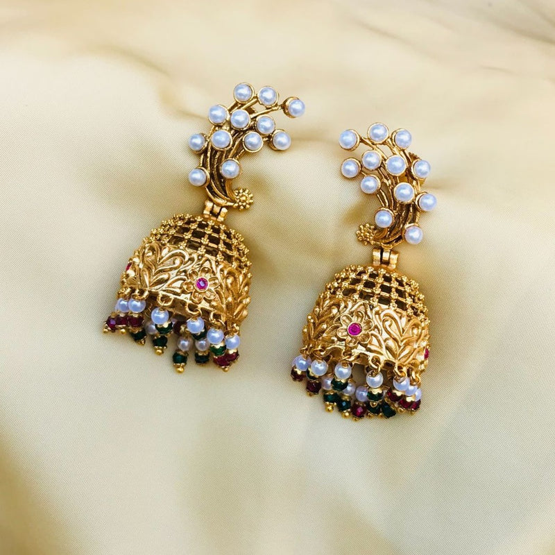 Stylish White Kundan Beutifull Earring