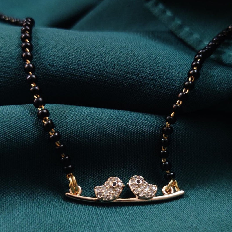Cute Bird American Diamond Mangalsutra