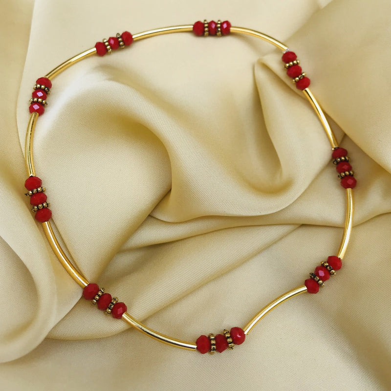 Dailywear Red Bead Anklet