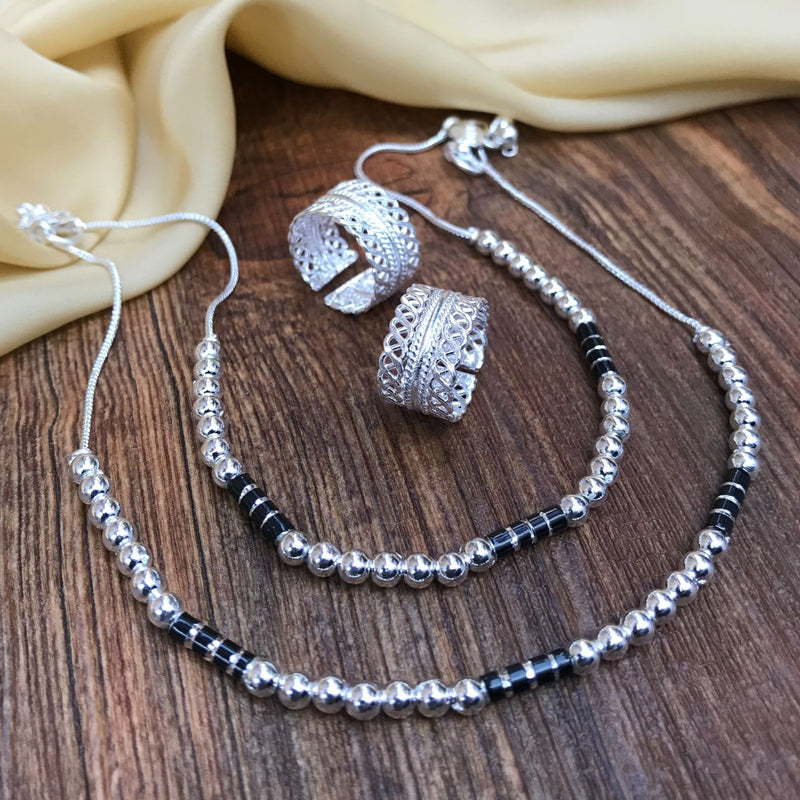 Exclusive Silver Anklet Toering Combo Jewellery