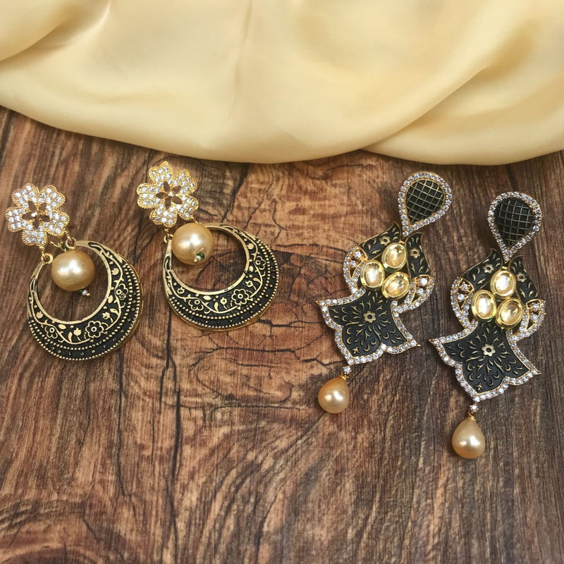 American Diamond Antique Earring Combo