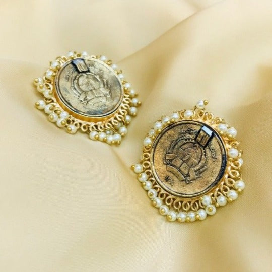 Matt Heritage Coin Earring