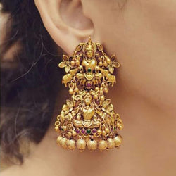 High Quality Goddess Laxmi Statue Earring