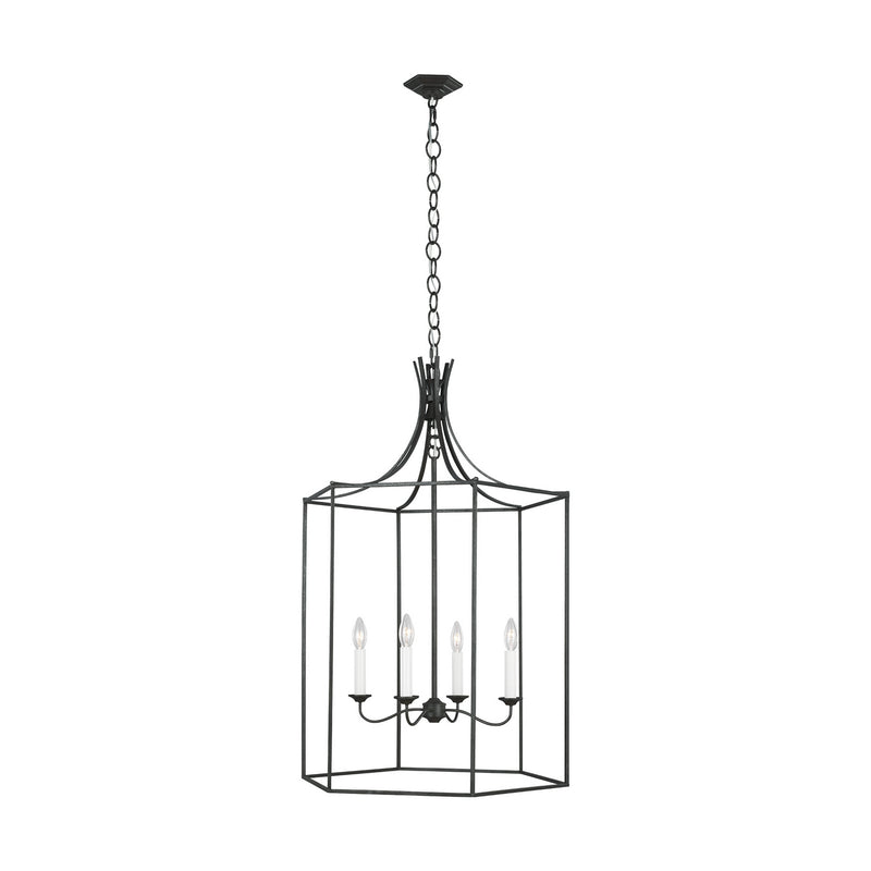 Generation Lighting - AC1024SMS - Four Light Pendant - AH by Alexa Hampton - Smith Steel