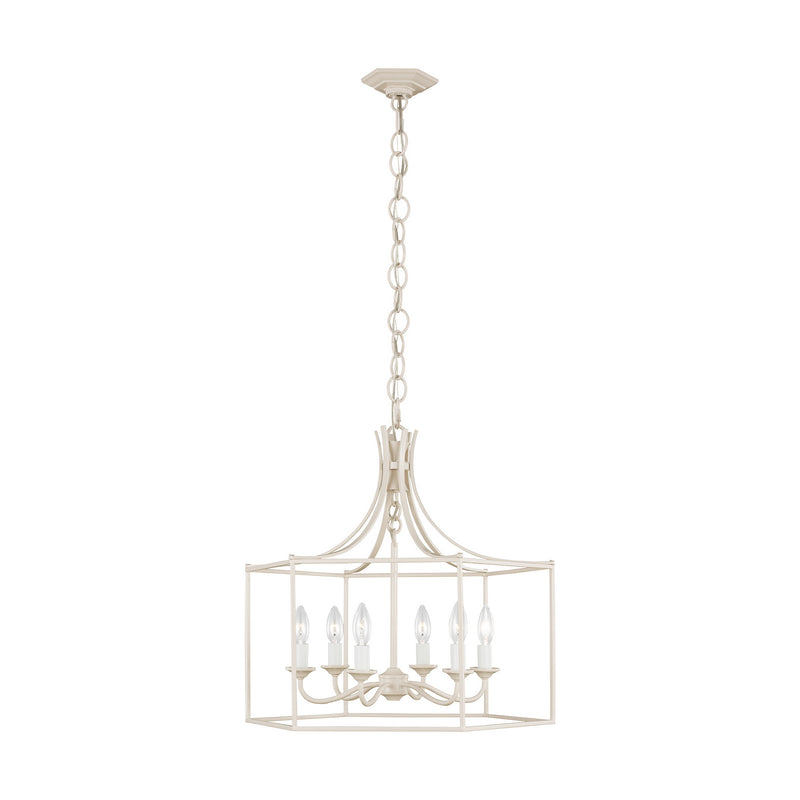 Generation Lighting - AC1046BLH - Six Light Chandelier - AH by Alexa Hampton - Blush