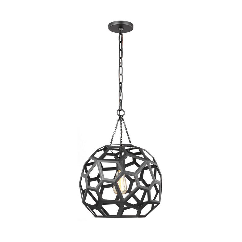 Generation Lighting - AP1061MBK - One Light Pendant - Feccetta - Midnight Black