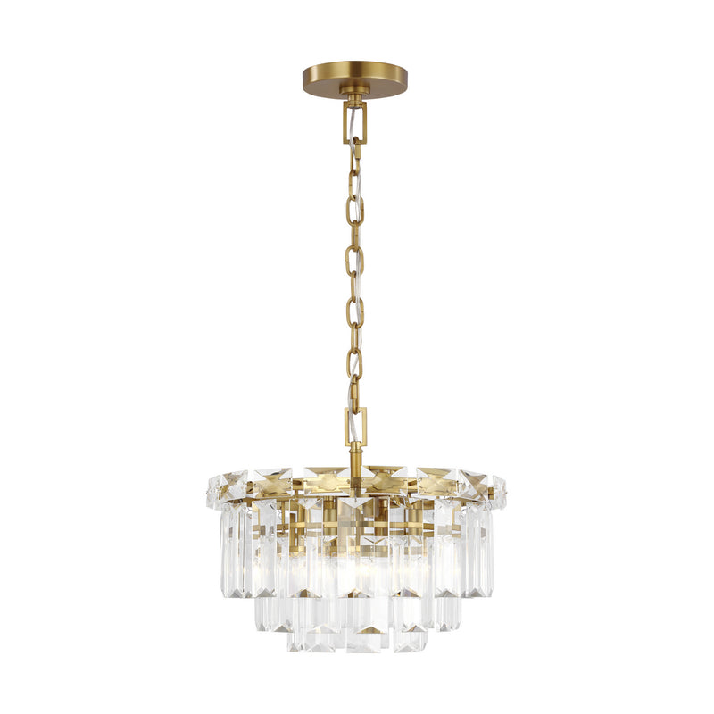 Generation Lighting - CC1254BBS - Four Light Chandelier - C&M by Champan & Myers - Burnished Brass