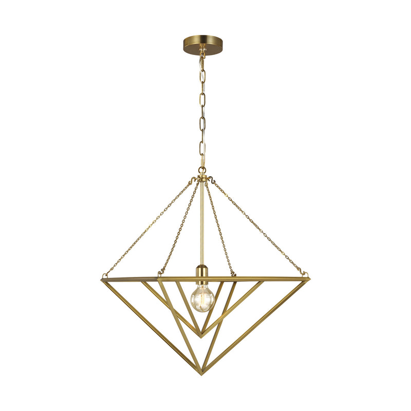 Generation Lighting - CP1141BBS - One Light Pendant - C&M by Champan & Myers - Burnished Brass