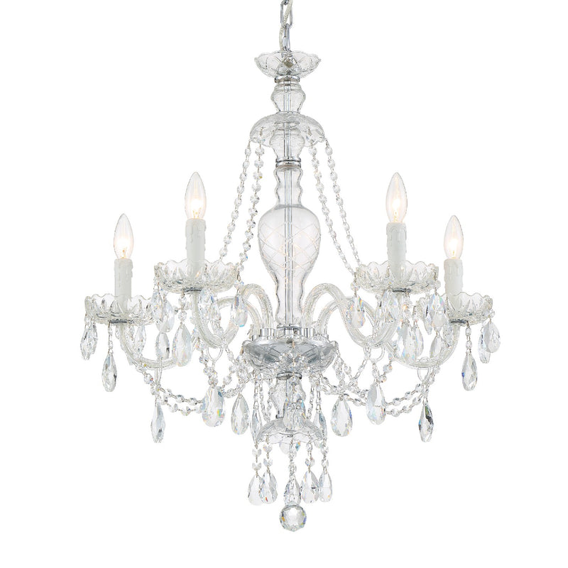 Crystorama - CAN-A1305-CH-CL-MWP - Five Light Chandelier - Candace - Polished Chrome