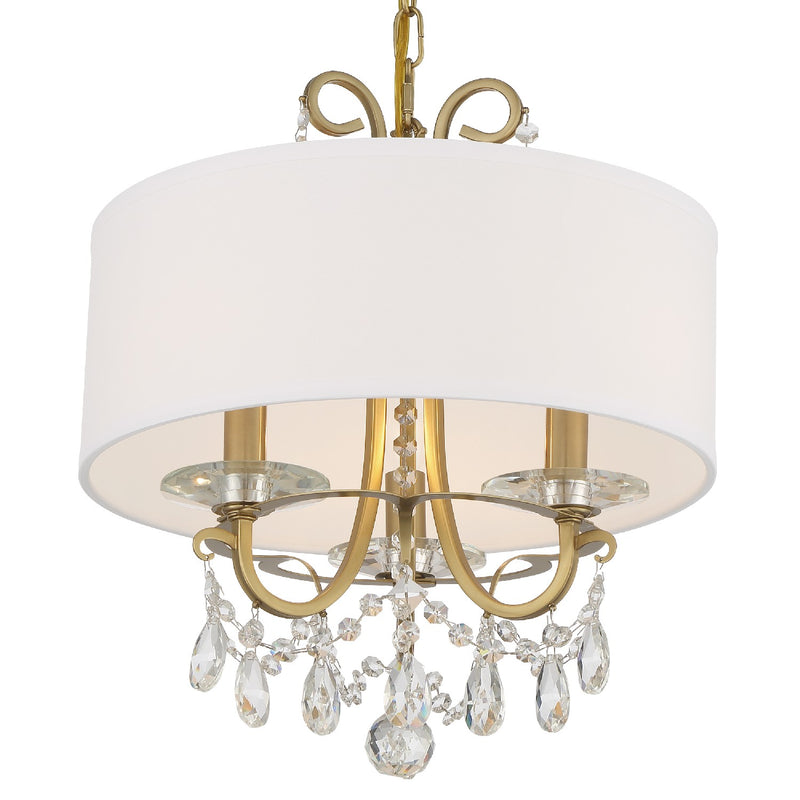 Crystorama - 6623-VG-CL-MWP - Three Light Chandelier - Othello - Vibrant Gold