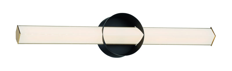 George Kovacs - P1543-688-L - LED Wall Sconce - Inner Circle - Coal And Honey Gold