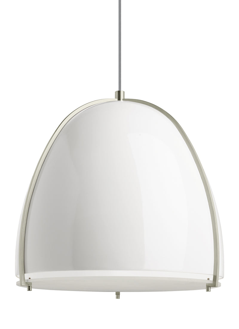 Tech Lighting - 700TDPRVPWW-LED927 - LED Pendant - Paravo - Gloss White/Satin Nickel