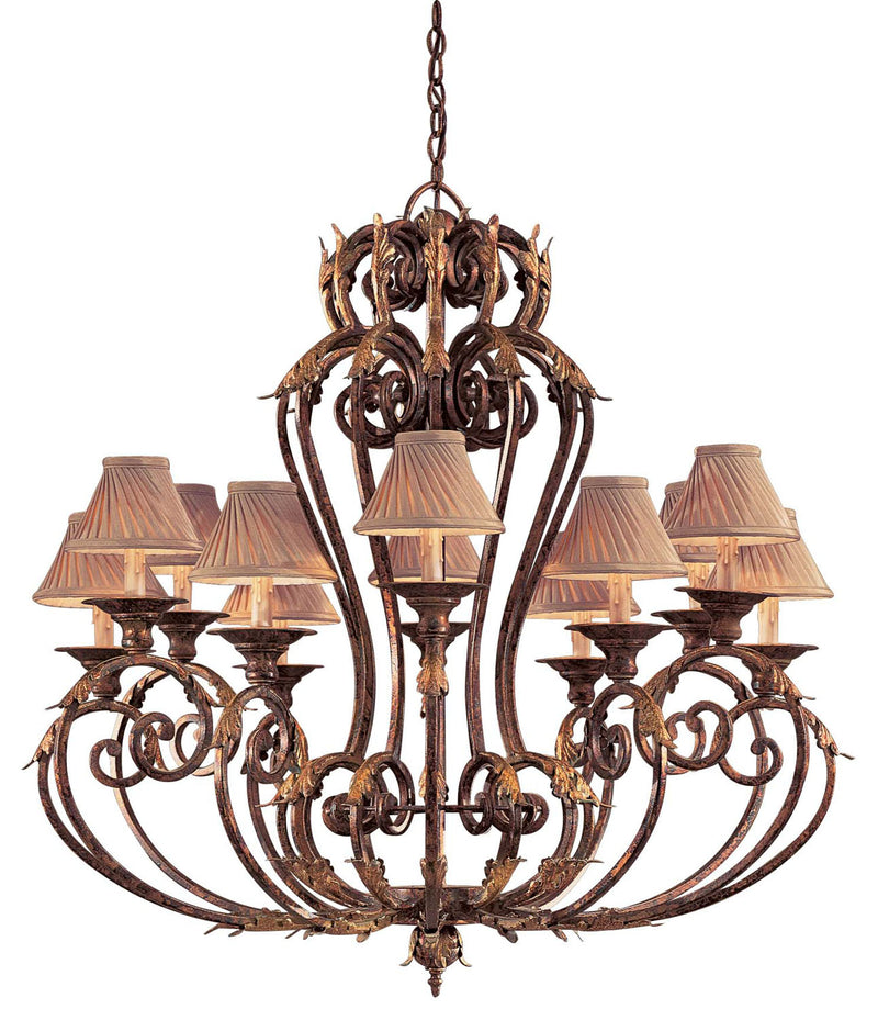 Metropolitan - N6239-355 - 12 Light Chandelier - Zaragoza - Golden Bronze