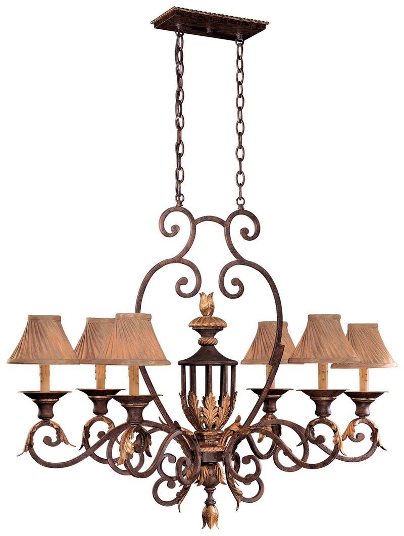 Metropolitan - N6234-355 - Six Light Island Pendant - Zaragoza - Golden Bronze