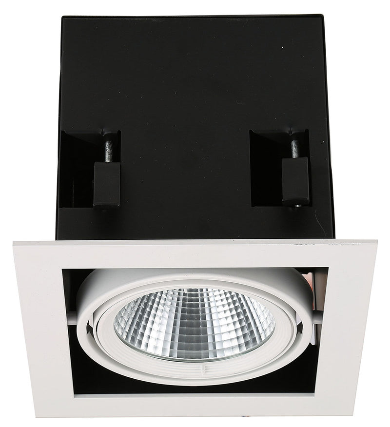 SPOT DE TECHO EMPOTRABLE LED TRIM BORDE EN  NEGRO, 30W 2400LM 30K