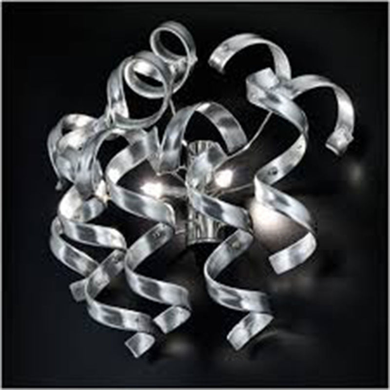 APLIQUE DE PARED O MONTAJE DE TECHO , METALLUX ITALY, COLLECION ASTRO SILVER LEAF DOUBLE WALL LIGHT 2XG9 LED