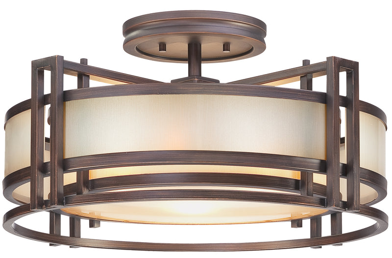 Metropolitan - N6964-1-267B - Three Light Semi Flush Mount - Underscore - Cimmaron Bronze