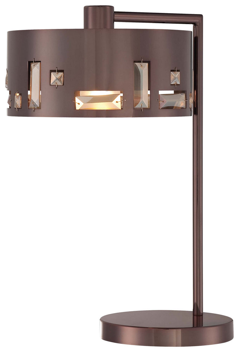George Kovacs - P1082-631 - One Light Table Lamp - Bling Bang - Chocolate Chrome