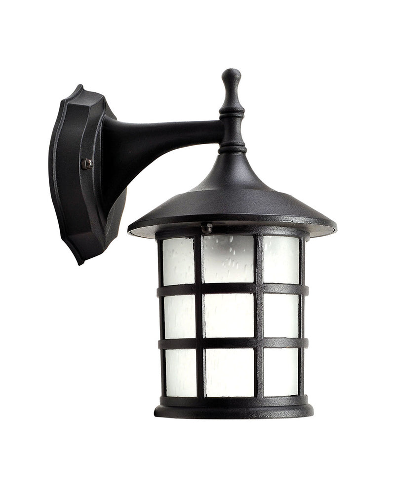 LÁMPARA DE PARED EXTERIOR TIPO FAROL COLOR NEGRO USO DE E27