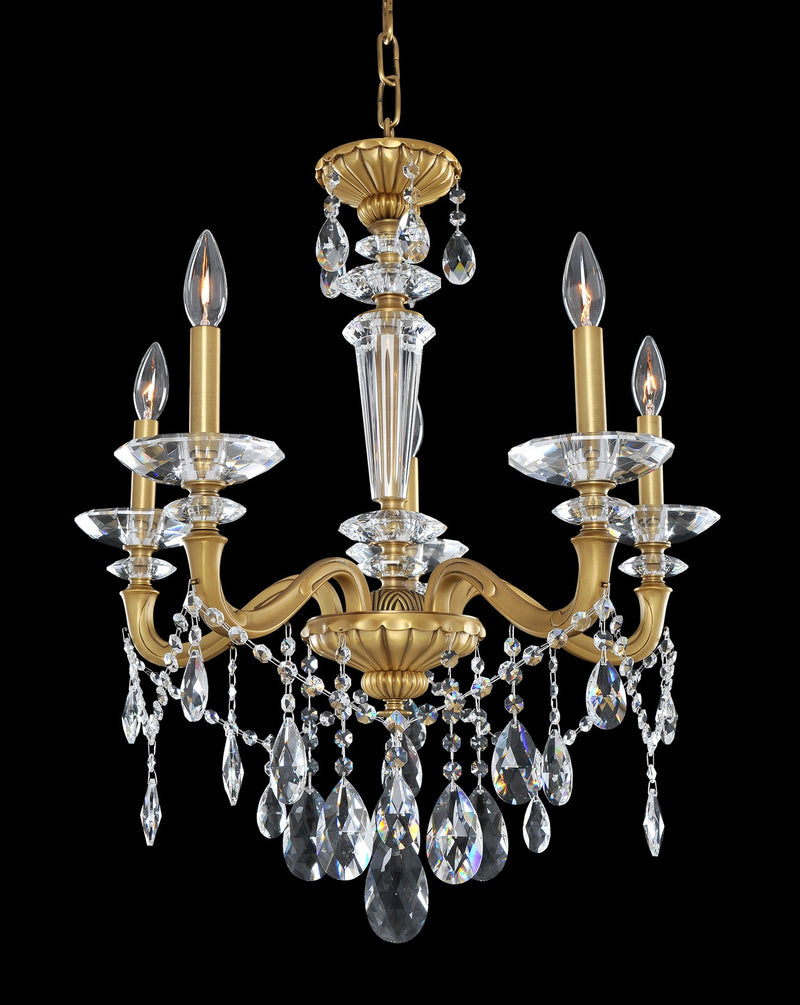 Allegri - 021770-032-FR001 - Five Light Chandelier - Jolivet - Historic Brass