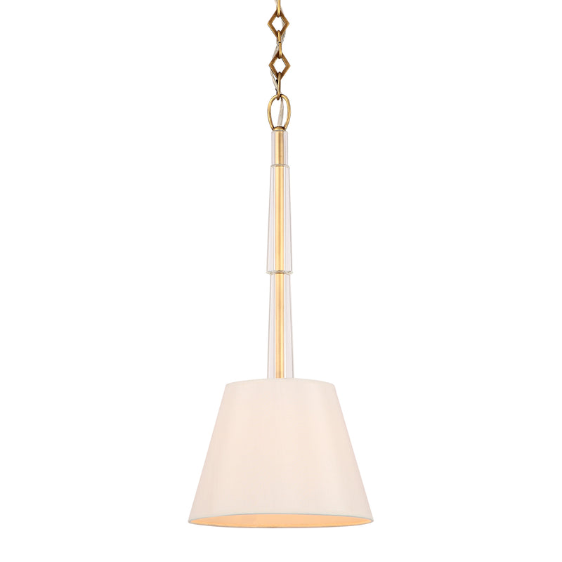 Crystorama - 8701-AG - One Light Pendant - Lawson - Aged Brass