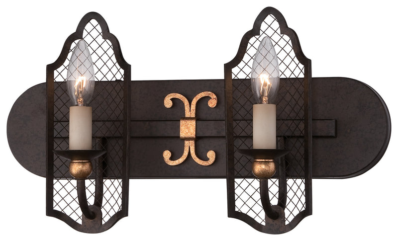 Metropolitan - N2712-258B - Two Light Bath - Cortona - French Bronze W/ Gold Highlights