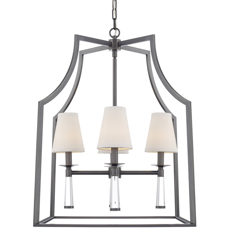 Crystorama - 8864-OR - Four Light Chandelier - Baxter - Oil Rubbed Bronze