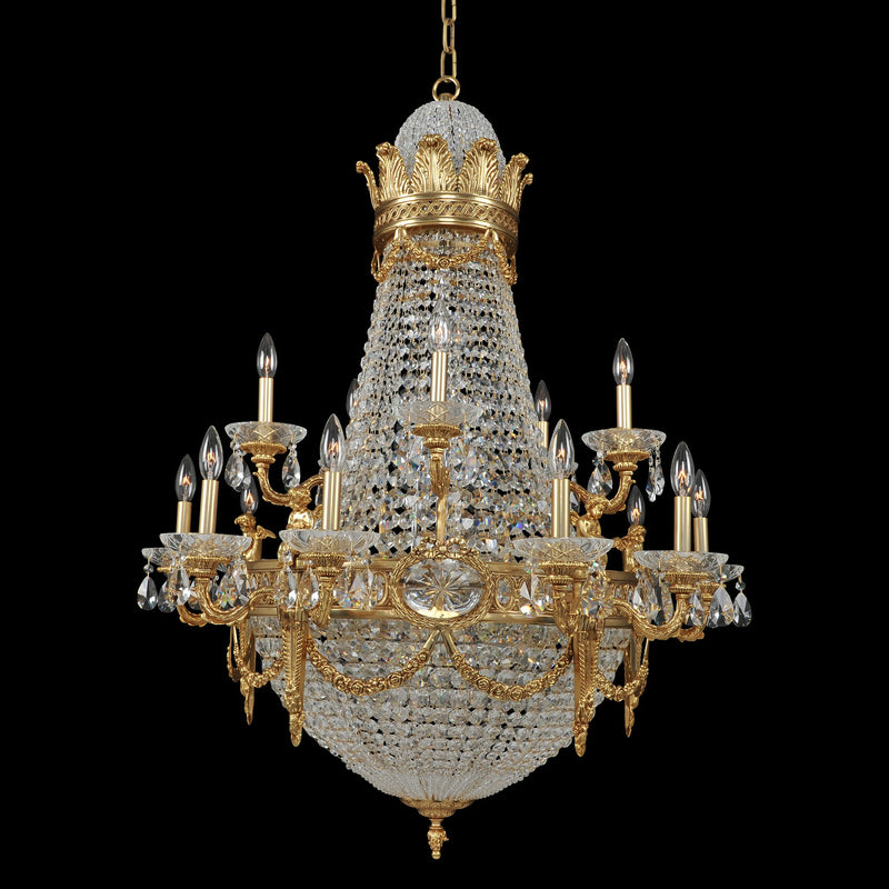Allegri - 020451-003-FR001 - 25 Light Chandelier - Marseille - Antique Brass