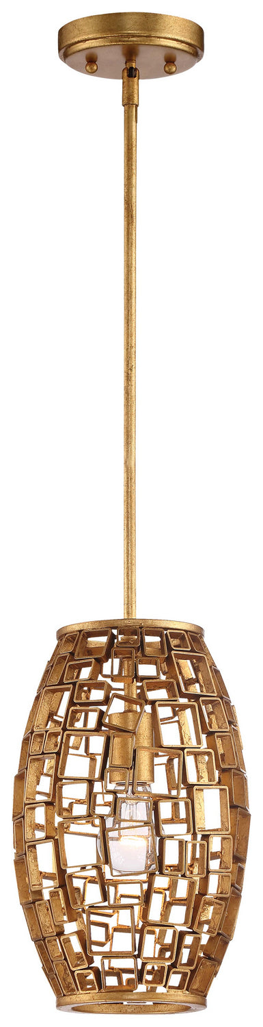 Metropolitan - N7131-597 - One Light Mini Pendant - Abbondanza - Halcyon Gold