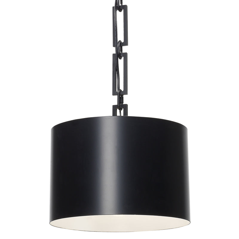 Crystorama - 8683-MK-WH - One Light Chandelier - Alston - Matte Black / White
