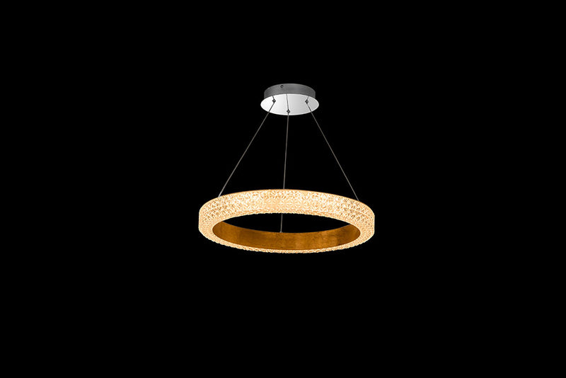 LAMPARA DECORATIVA  MODERNA MARCA HOMEDELIGHT,  DE TECHO COLGANTE LED INTEGRADO 36W
